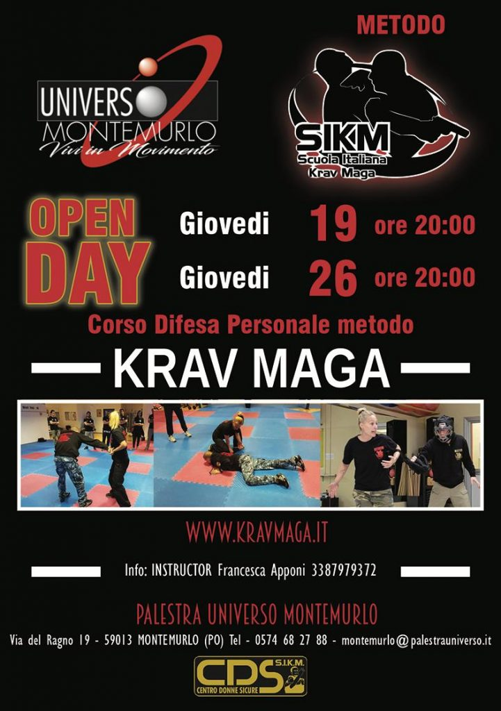 Open Day krav maga Montemurlo