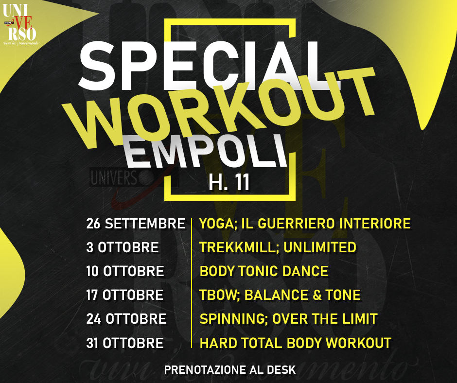 Special workout empoli